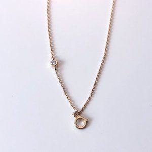 "Anthropologie Gold ""A"" Necklace"